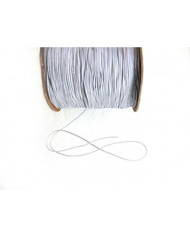 Fil-nylon-tressé-1mm-GRIS-Argent -n°25-x 3 Mètres