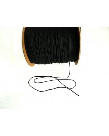 Fil-nylon-tressé-1mm-NOIR-n°1-x 3 Mètres