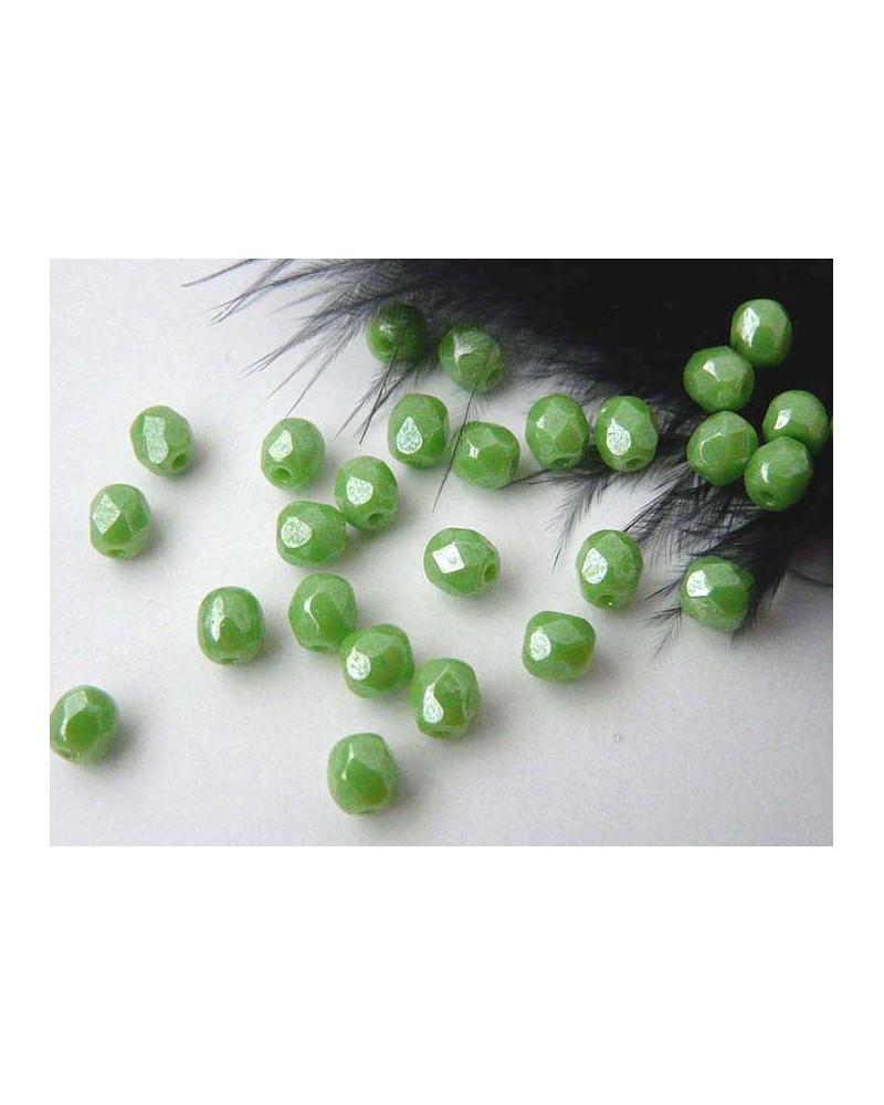 Facettes de Bohême 4mm hématite olivine x 50