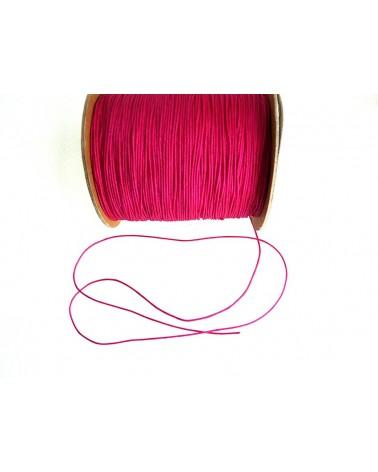 Fil-nylon-tressé-1mm-ROSE-FUSHIA-N° 5x 3 Mètres