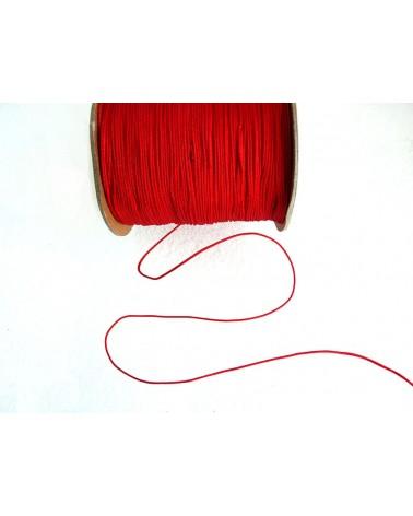 Fil-nylon-tressé-1mm-ROUGE-vif-n°2-x 3 Mètres