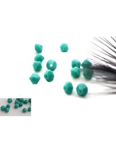 Toupies 4mm Turquoise vert opaque X 25