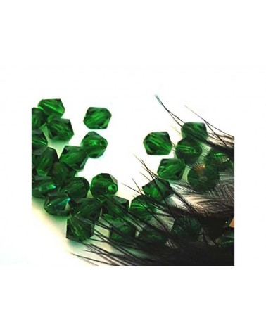 Toupies cristal 4mm Green Bottle x 25