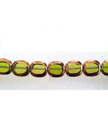 rectangle vitrail 11x14mm vert X1