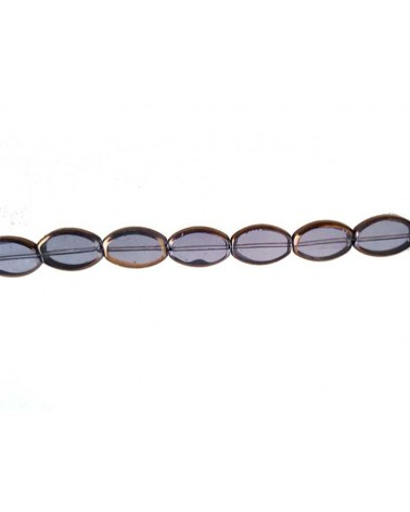 Ovale vitrail 15mm lavande X1