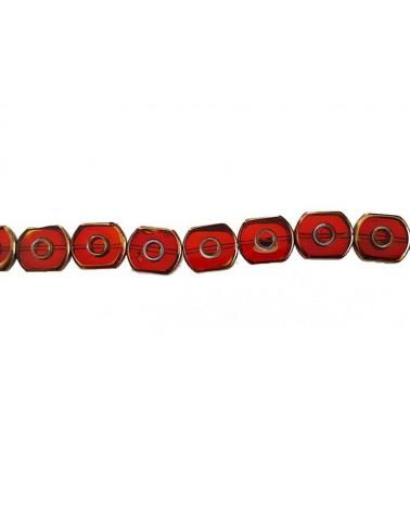 Rectangle vitrail 16mm rouge X1