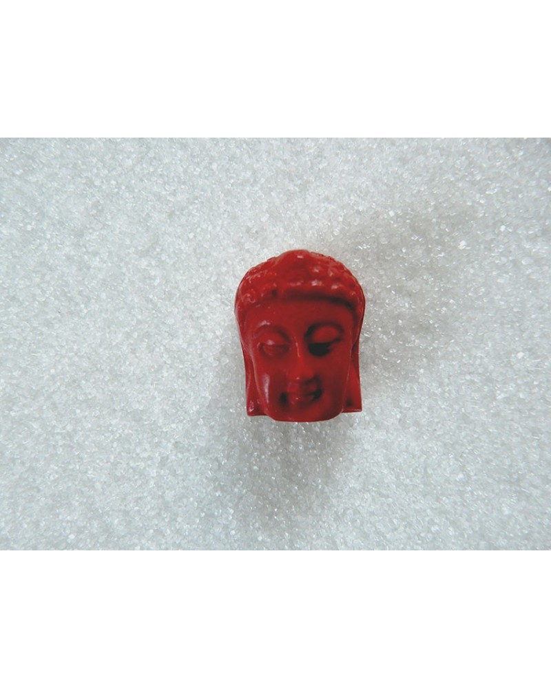 Bouddha-imitation-cinabre-Rouge-23 x 18mm