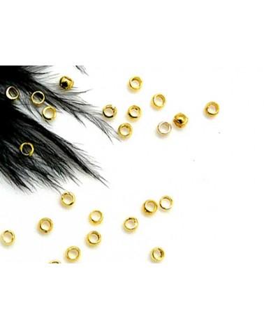 Perles à écraser laiton doré 3mm x 25