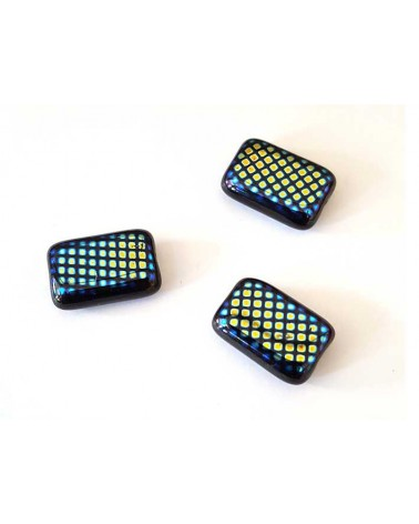 Rectangle bleu 15x10mm X 1