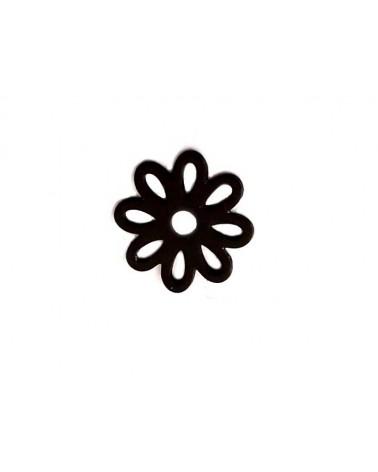 Fleur rosace évidée 10mm noir x1