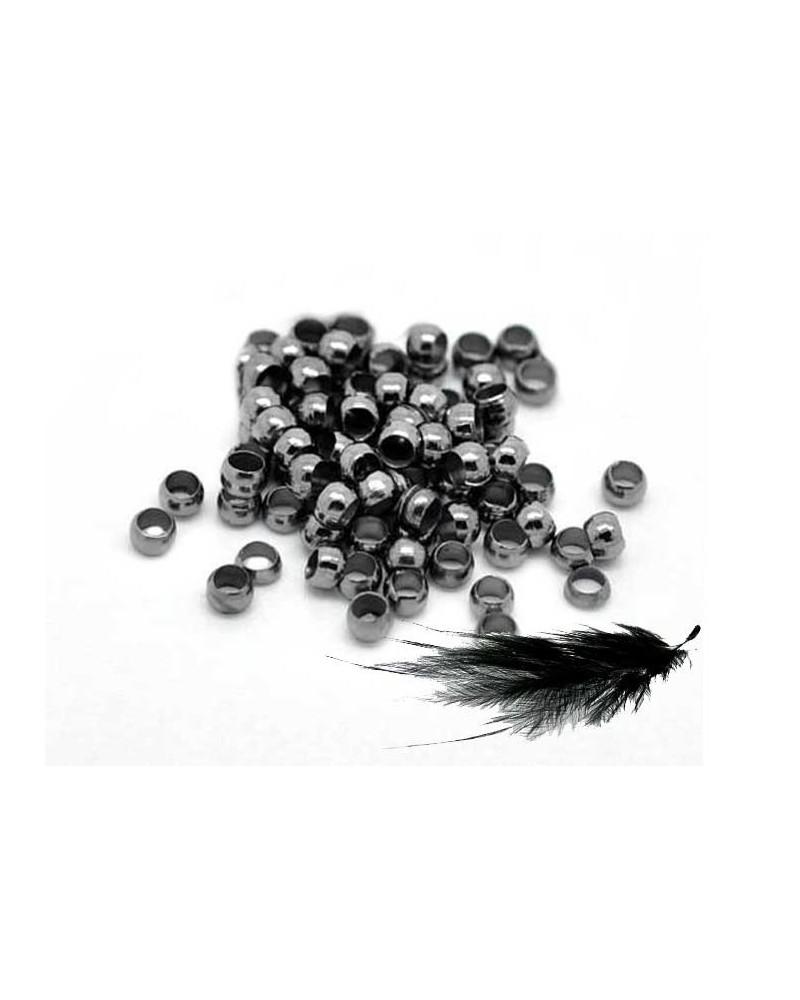 Perles à écraser 2mm noir anthracite