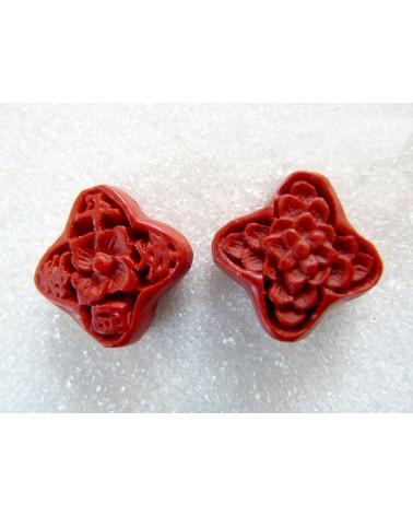 Losange-imitation-cinabre-19x19mm-rouge-X1 -P012-1