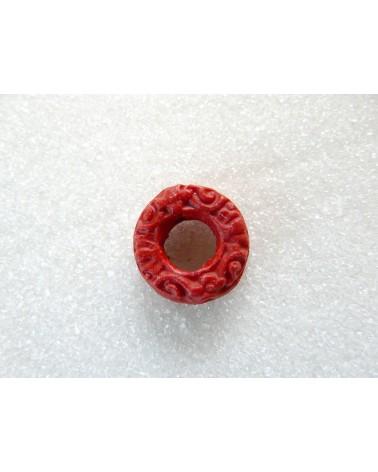 Anneau-16mm-imitation-cinabre-rouge X 1-P05-1
