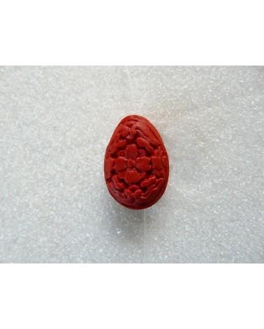 Goutte-cinabre-rouge-22x15mm X 1-P31-1