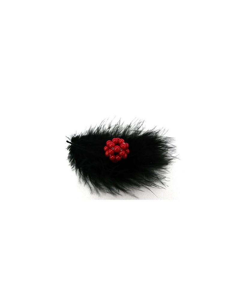 Perle cluster 17- 20mm en corail rouge G x1-G28 rouge