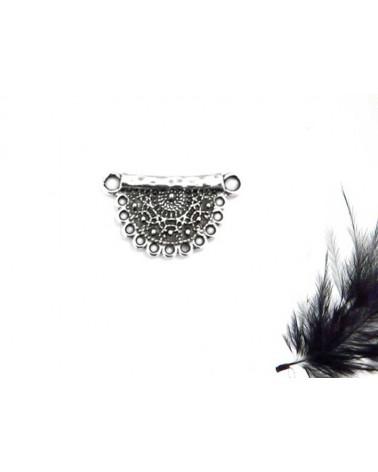 Intercalaire pour collier 27x16mm argenté vieilli