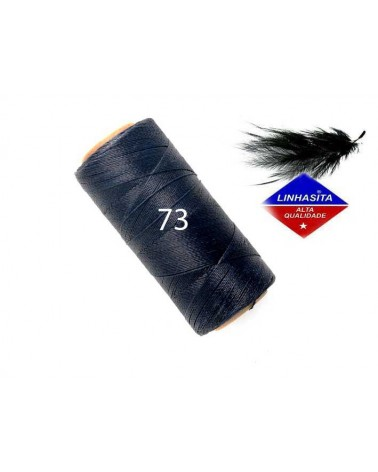 Fil ciré 0.5MM Linhasita Blue Black (73) X 5M