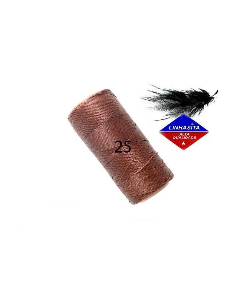Fil ciré 0.5MM Linhasita Old Copper (25) X 5M