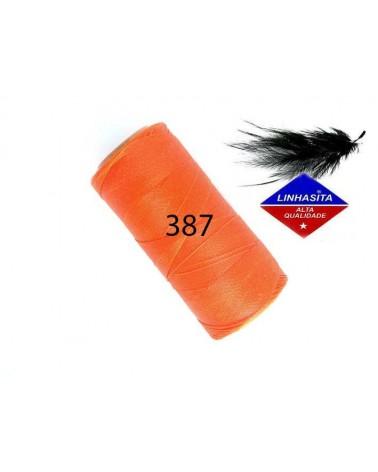 Fil ciré 0.5MM Linhasita Orange (387) X 5M