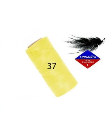 Fil ciré 0.5MM Linhasita Yellow (37) X 5M
