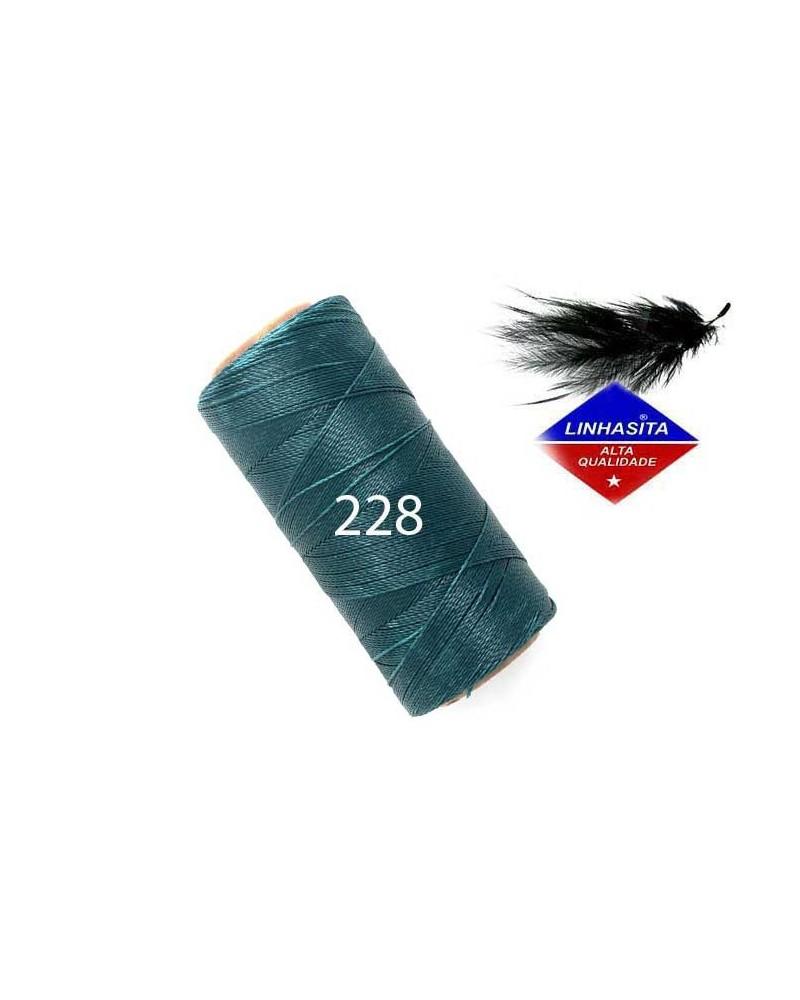 Fil ciré 0.5MM Linhasita Teal (228) X 5M