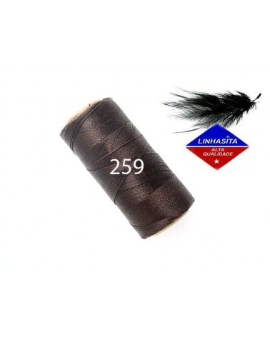 Fil ciré 0.5MM Linhasita Brown (259) X 5M