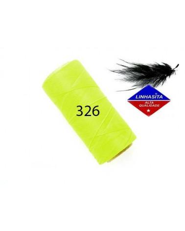 Fil ciré 0.5MM Linhasita Néon Yellow (326) X 5M