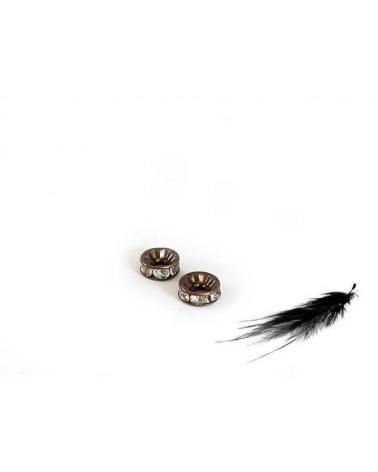 Rondelle Strass A 8mm crystal-cuivre X1