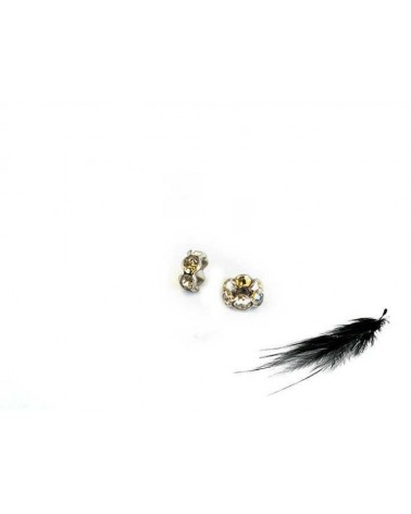 Rondelle Strass AA 8mm crystal-Platine X1