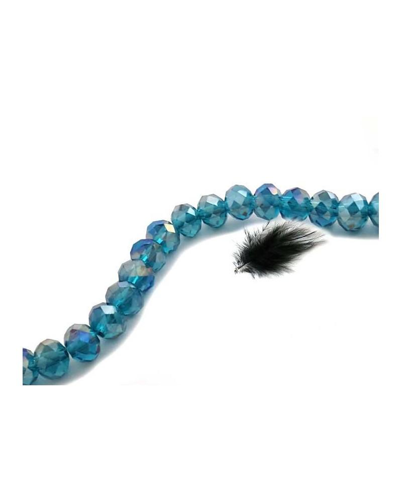 ABACUS 4x6mm bleu caraïbes AB x 20