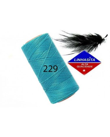Fil ciré 0.5MM Linhasita Turquoise (229) x 5M