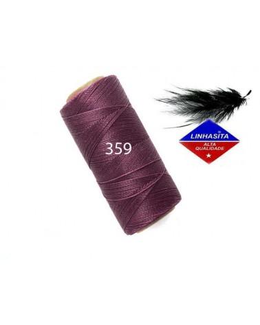 Fil ciré 0.5MM Linhasita Amethyst (359) X 5M