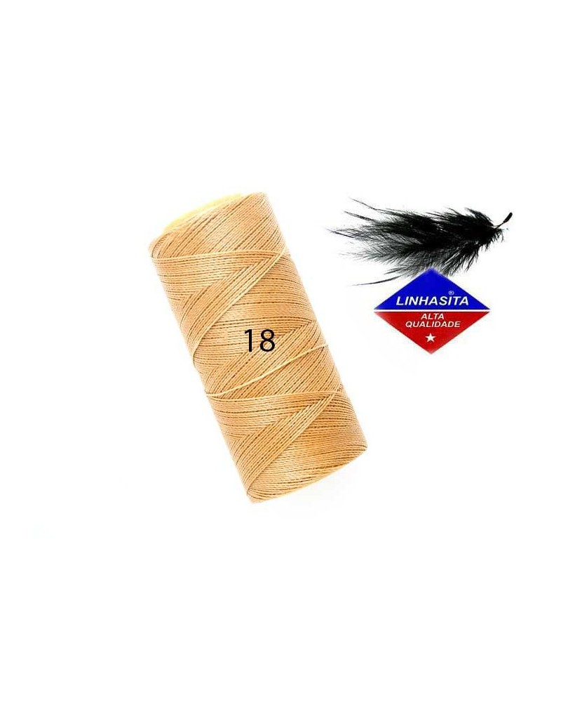 Fil ciré 0.5MM Linhasita Straw (18) X 5M