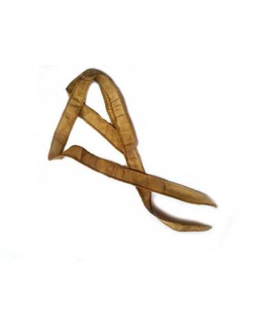 Ruban pure soie teint à la main Or Antique 90cm