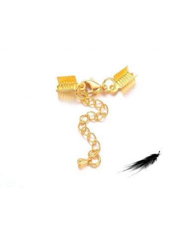 set embout fermoir doré pour cordon plat 5mm