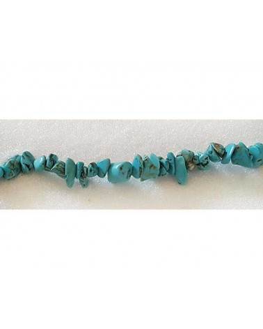Pépites 8-11mm Turquoise Synthétique X 10cm