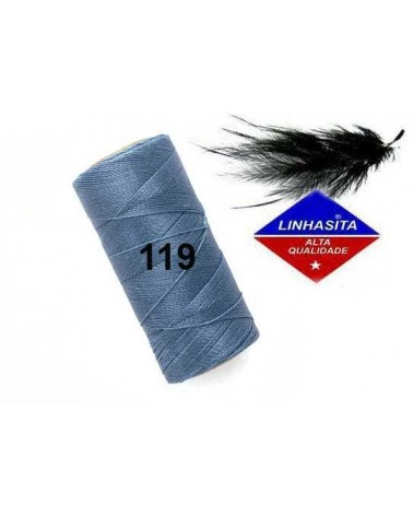 Fil ciré 0.5MM Linhasita Denim Blue (119) X 5M