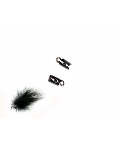 Embout à serrer cordon 2mm noir X 6