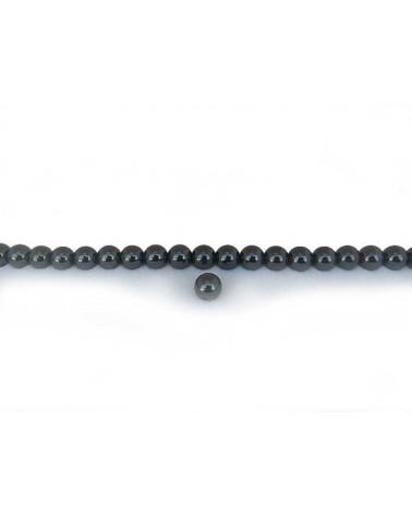 Hématite boule lisse 4mm Noir X 20