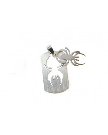 Pendentif Araignée amovible 35mm inox x1