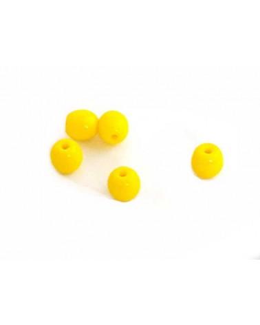 Ronde Bohême 7mm jaune X 10