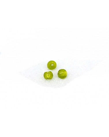 Perle-de-verre-Vert-anis-feuille-d'argent-6mm x 15