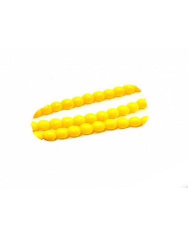 Ronde Bohême 4mm jaune opaque X 20