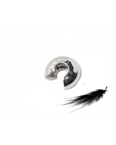 Caches Perles à Ecraser 5mm Platine X 25