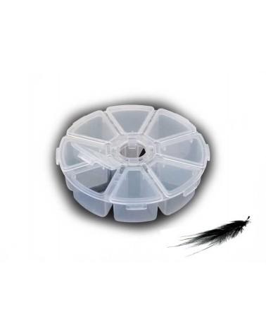 Boîte ronde de rangement 8 compartiments plastique X1