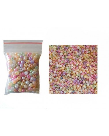 Rocaille 4mm mix pastel nacré 15gr