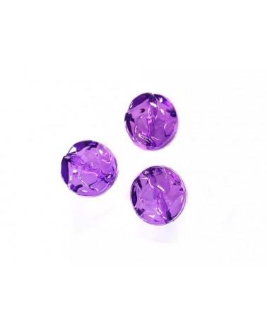 Palet acrylique décoré14mm violet x10