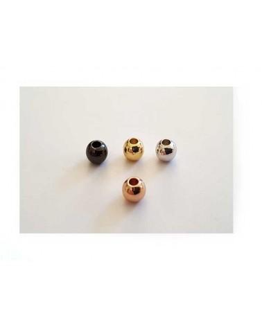 Boule 4mm doré rose X 10