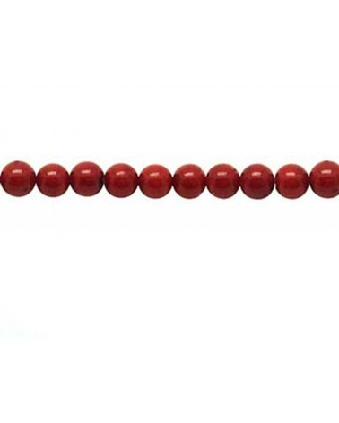 corail rouge 4.5mm x 20 perles