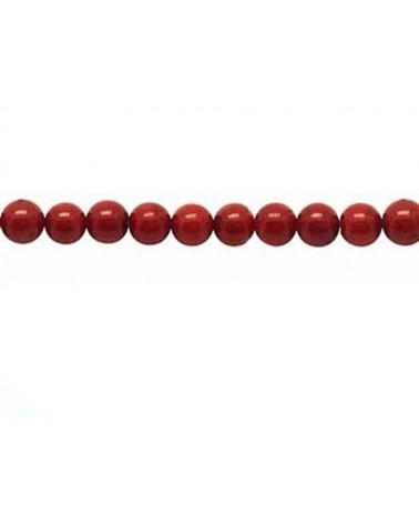 corail rouge 4.5mm x 20 perles